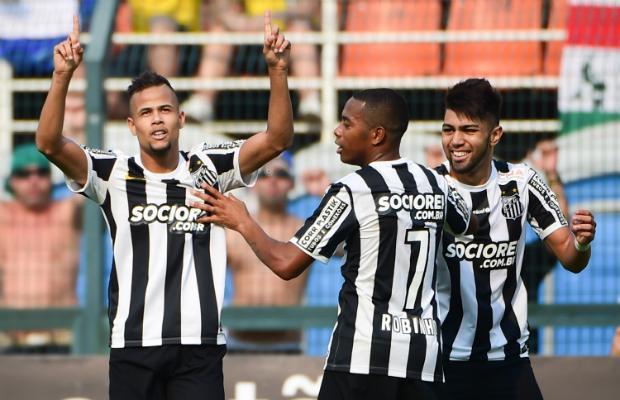 Palmeiras 1 x 3 Santos - mandando no Pacaembu